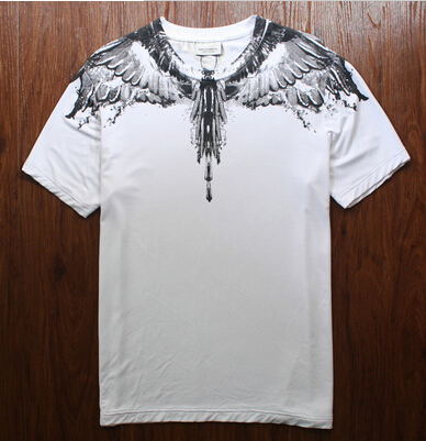 2015 Summer New 3d t shirt brand men Wing feathers Tees 3D Marcelo Burlon T Shirts men Harajuku lover Couple tee swag tops(China (Mainland))