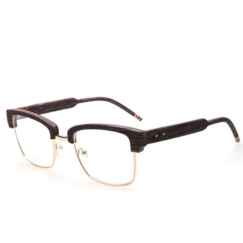 2016 mens vintage brand thom designer glasses frame browne oversized wood print myopia optical eyeglasses