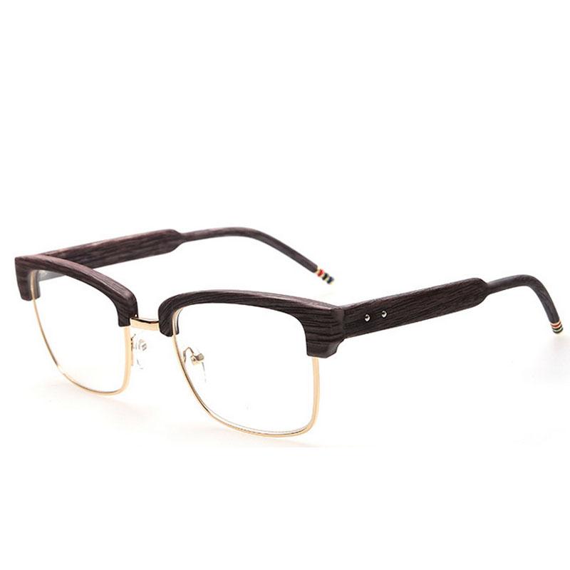 2016 mens vintage brand thom designer glasses frame browne oversized wood print myopia optical eyeglasses