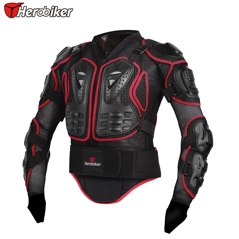 Herobiker Professional Motorcycle Body Protection Motorcross Racing Full Body Armor Spine Chest Protective Jacket Gear(China (Mainland))