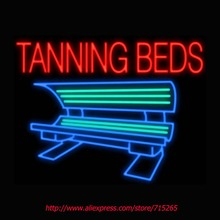 Tanning Beds Neon Signs Board Neon Bulbs Light Real GlassTube Handcrafted Beer Bar Pub Led Signs Business Shop Display 31x24(China (Mainland))