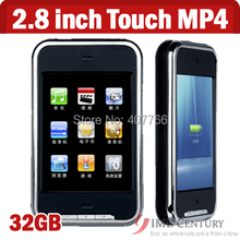 32GB 2.8 inch Touch screen mp4 player 32GB with Camera TFT Memory Music Movie Player FM Radio DV with 1.3px camera