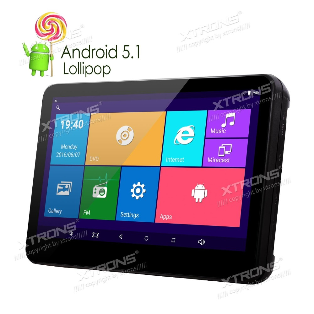 """XTRONS 10.1"""" Android 5.1 Quad Core Car stereo Touch Screen Win8 UI HD1080P Video Headrest PC DVD Player in Aftermarket with HDMI(China (Mainland))"""