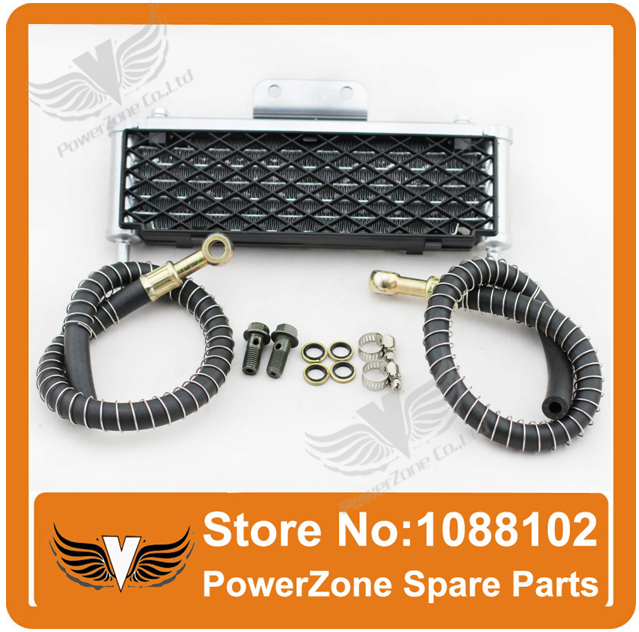 HIGH PERFORMANCE  MOTORCYCLE OIL COOLER RADIATOR COOLING ATV DIRT PIT MONKEY BIKE 125cc - 140cc free shipping<br><br>Aliexpress
