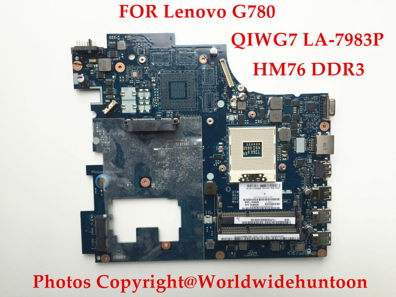 Brand New Original laptop motherboard for Lenovo G780 QIWG7 LA-7983P HM76 PGA989 DDR3 Fully tested(China (Mainland))