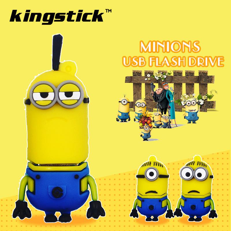 32g 64g Cartoon minions USB Flash Drive cheap pen drive cute Minions Pendrive 4GB 8GB 16GB USB Stick usb minion usb flash gift(China (Mainland))