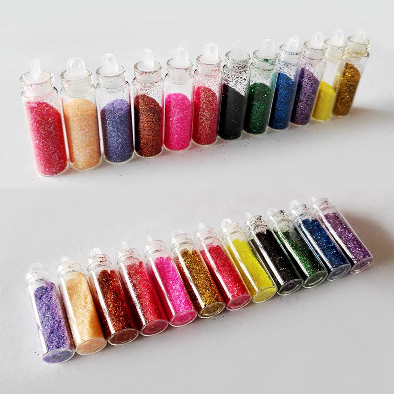 12 Color Paillette Nail Art Dust Acrylic Glitter Polish Powder Glitter Nail Dust Purpurina Colores Powder Polish Tinsel ZJ1123(China (Mainland))