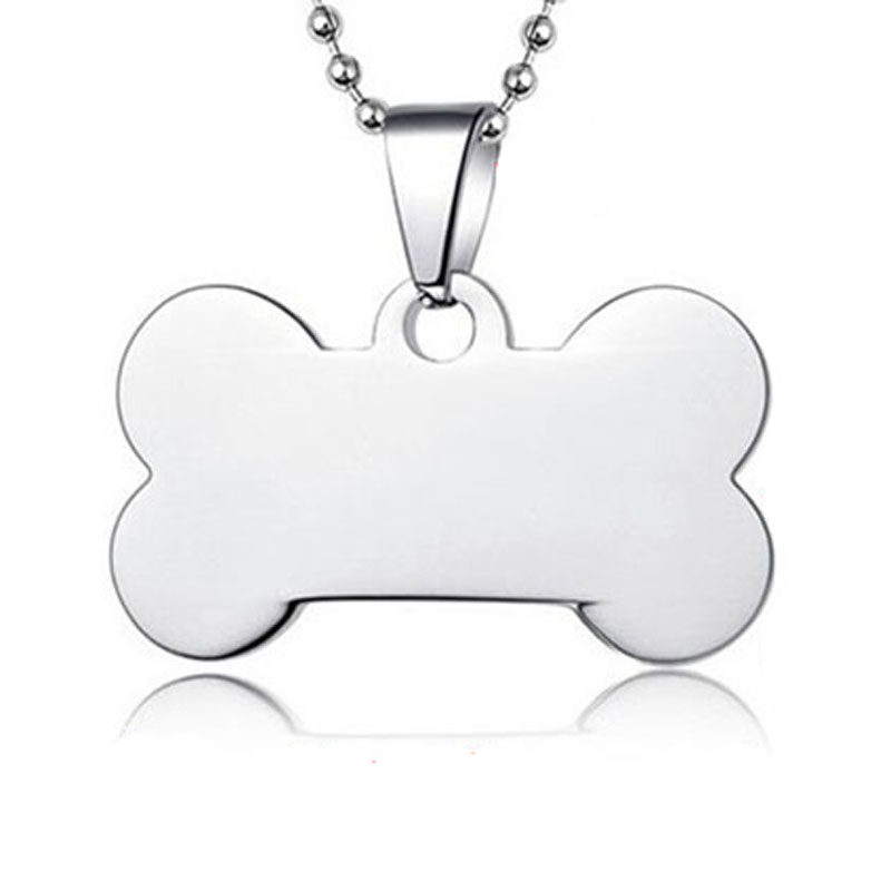 500pcs/lot Bone Stainless Steel Bulk Dog ID Tags, Metal Pet Bone Dog Tags 5 colors available Dog Tags Wholesale(China (Mainland))