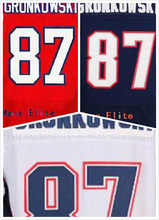 Mens Rob Gronkowski Jersey #87 Blue White Red Womens 100% Stitched Embroidered Free Shipping(China (Mainland))
