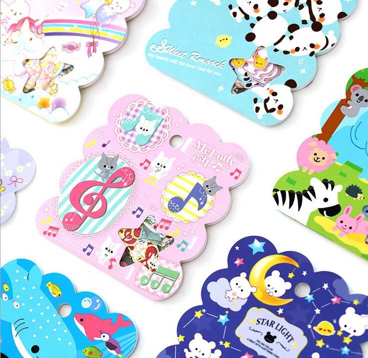 50pcs/pack Cute Panda Cat Bear Animal Sealing Stickers Diary Album Label Stickers Pack Decorative Scrapbooking DIY Stickers(China (Mainland))