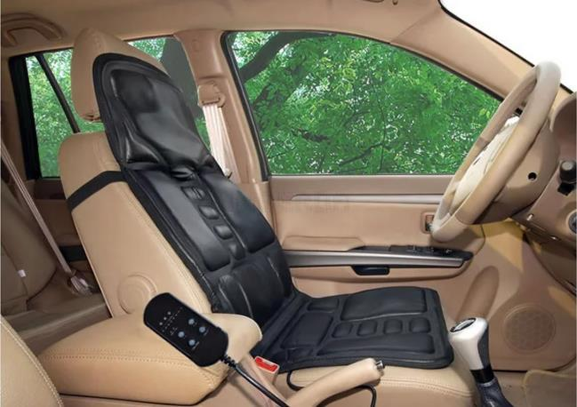 12V Car Massage Seat Cushion Heated Seat Cushion Neck and Back Car Vibration Massager As Seen On TV Free Shipping 2015(China (Mainland))