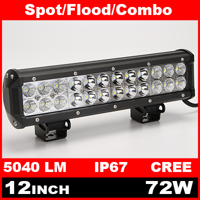 12 Inch 72W Cree LED Work Light Bar for Indicators Motorcycle Driving Offroad Boat Car Tractor Truck 4x4 SUV ATV Flood 12V(China (Mainland))
