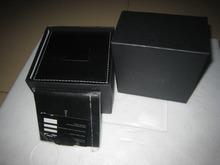 Nuevo reloj de pulsera de almacenamiento organizador contenedor caja funda de cuero del reloj rojo cuadrado marca de relojes cajas, cajas de regalo