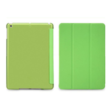 Hot-sale Wholesale Gifts Foladble Stand Smart Case Leather Crystal Back Cover Tablet Protector Skin For iPad mini Retina Green(China (Mainland))