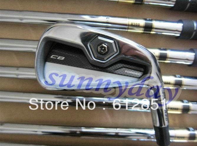 1 Set CB FORGED golf iron set (3-9,P,A 9pcs full set) with R/S Steel shaft and free headcover freeshipping(China (Mainland))