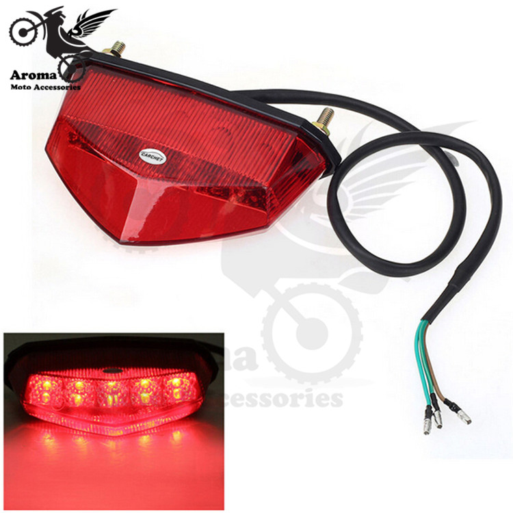Triangle motorcycle brake signal light for yamaha honda suzuki LED stop Indicator tail driving red lighting