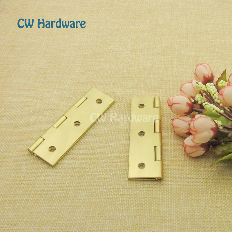 """50mm 2"""" 100pcs CW Hardware Small Hinges for cabinets/Brass Furniture Accessories, Trade Grade Cupboard Door Butt Hinges(China (Mainland))"""