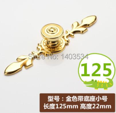 125mm golden color Zinc Alloy Kitchen Furniture handle antique bedroom drawer pulls(China (Mainland))