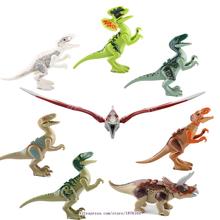 Bela 8pcs/lot Dinosaurs of Jurassic World Building Blocks Mini Figure Kids Baby Toy Minifigures Brick Compatible With Lego