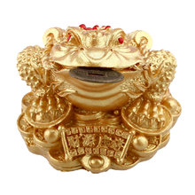 Feng Shui Money LUCKY Fortune Wealth Oriental Chinese I Ching Toad Coin Home Decor free shipping New three-legged ornaments(China (Mainland))