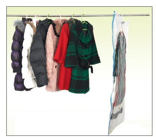 home Vacuum vacuum-seal Storage Wardrobe decultter with hook hanger. Space suit bag 90x60cm L size(China (Mainland))