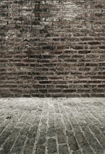 HUA Art fabric photography grey brick wall and wood floor backdrop 5x7ft D1190(China (Mainland))