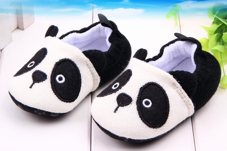 2015 Panda Funny Baby Shoes Cotton Blended Soft Sole Slip-on Prewalker For New Born Baby Toddler Shoes Boys Girls Crib Shoes(China (Mainland))