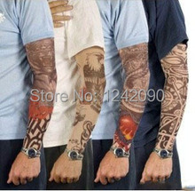 2015 New Fashion Punk 2Pcs Men Women Tamporary UV Skull Theme Fake Tattoo Sleeves Arm Warmers Free Shipping(China (Mainland))