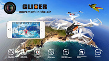 Drone WIFI CX-36 Pocket Drone 4CH 2.4G 6Axis Roll Mini WIFI Camera 0.3MP/2MP LED Hand Throwing Model Toy RC Aircraft