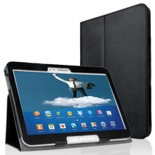FREE SHIPPING Folio Slim PU Leather Cover Case for Samsung Galaxy Tab 3 10.1 P5200 P5210 Book Style Stand Cover Auto Sleep