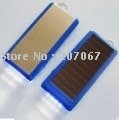 Free Shipping 10pcs/Lot 1500mAh Capacity Solar Power Battery Charger with LED Flashlight For Mobile phone mp3 PDA PSP