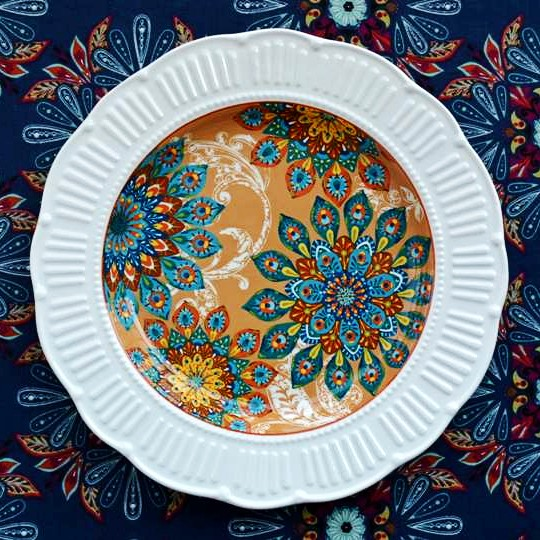 Earendil/Persian style ceramic tableware/card, peacock feathers, mott relief decoration plate/western food market(China (Mainland))
