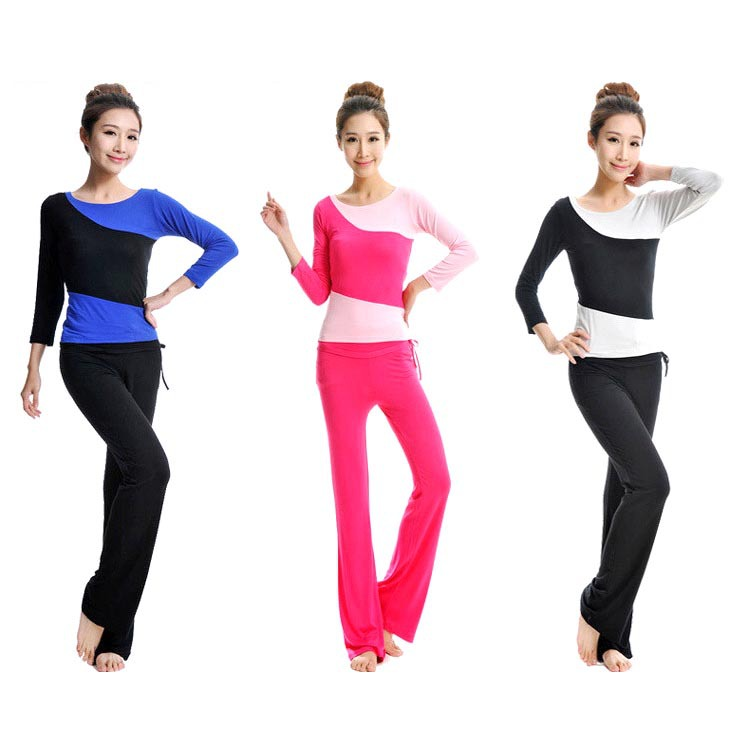 2015 Brand New Special Fashionable Sports Casual Pants Yoga Clothes Long Sleeve Suit Modal Positive Yoga Dance Fitness Apparel(China (Mainland))