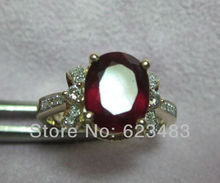 Solid 14KT Yellow Gold Natural Red Blood Ruby Engagament Ring, Free shipping, Custom design Jewelry