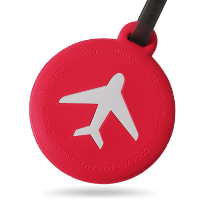 M Square Round PVC Luggage Tags Suitcase Hang Tags Baggage Name Labels Free Shipping(China (Mainland))