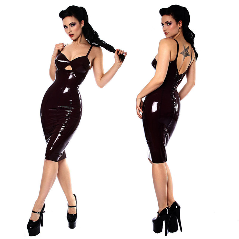 Black Faux Leather Sexy Body Suits for Women PVC Erotic Costumes Latex Bodysuit Catsuit 2016 women leather dresses(China (Mainland))