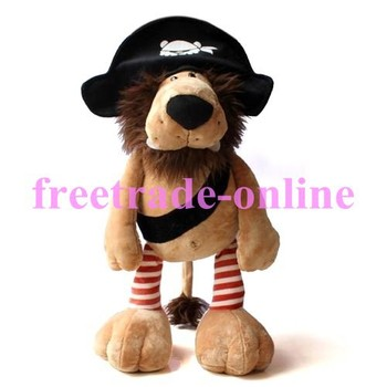 """New 25cm/9.8"""" Stuffed Animals NICI Pirates Lion Soft toys/Gift For Children T-028"""