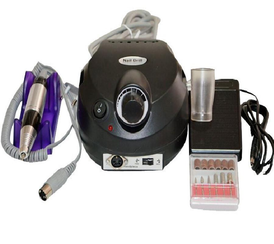 Nail Art Equipment Electric Acrylic Nail Art Drill Nail Polish Machine File Buffer Bits Manicure Pedicure Kit(China (Mainland))