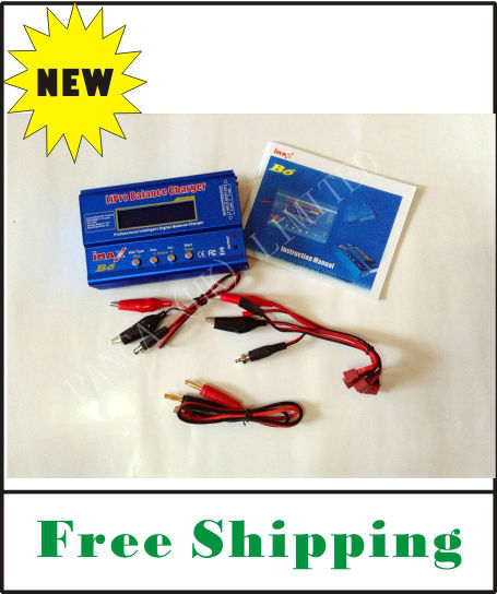 FREE SHIPPING high quality and inexpensive IMax B6 Digital LCD Lipo NiMh battery Balance Charger + AC Adapter 12V 5A