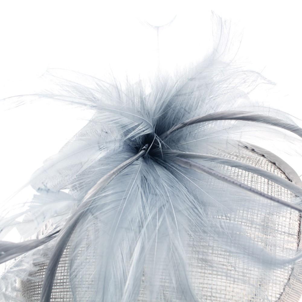 Free Shipping 2015 New Fashion Lady Girl Feather flowers Large Headband Sinamay Fascinator Hat on Party Church Headdress Wedding(China (Mainland))