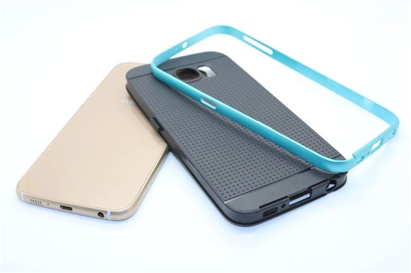 For Samsung Galaxy S6 Case Original brand Soft Silicone Skin cellular Back Cover Neo Hybrid Alloy Frame For Samsung S6(China (Mainland))