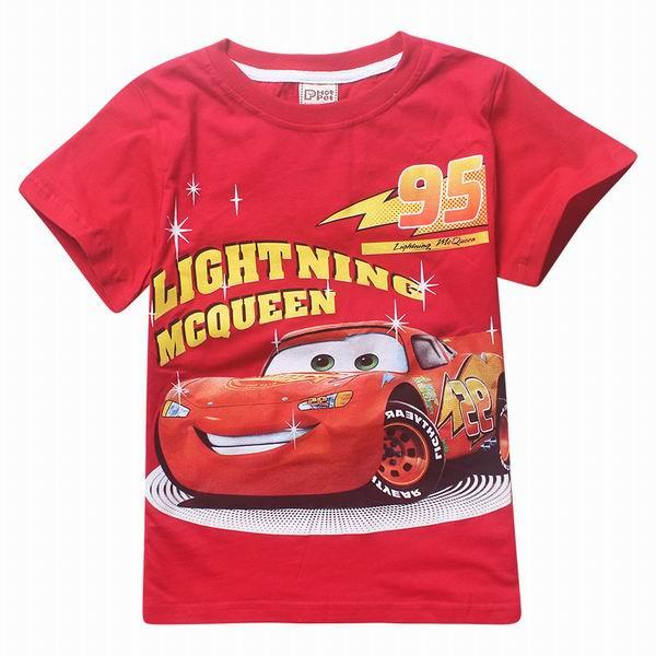 3-9T Cars Boys Girls T Shirts 100% Cotton New Summer Children Kids Tops Tees T Shirt For Boys Girls Costume Clothing Environment(China (Mainland))