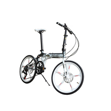 20in 5 Spokes Mini Folding Bike 7 Speeds Suspension Frame Foldig Bicycle Mechanical Disc Brake TOP-023(China (Mainland))