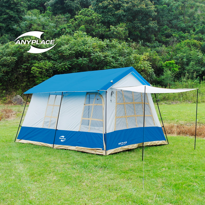 2016 new 8-10 people family camping tent two bedrooms  park beach camping; spring summer fall;picnic tent free shipping; <br><br>Aliexpress
