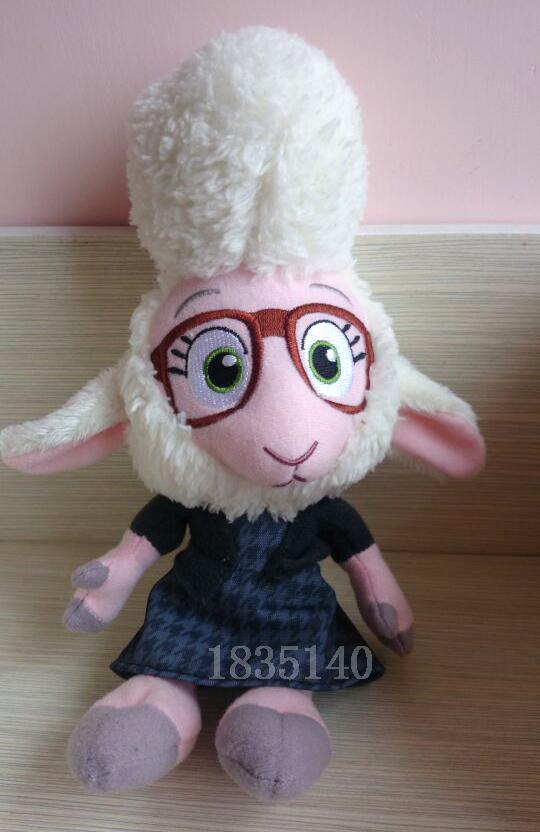 The latest movie zootopia goat cute plush dolls,25 cm(China (Mainland))