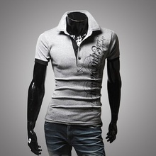 Men 2016 New Fashion Brand Summer Polo shirt Camisetas Hombre Mens Tee Print Letter Fashion Short Sleeve Sport Tee Shirts P08