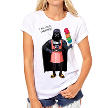New Arrival women Summer Fashion T Shirts  i am your mother star wars  T-shirts  Short-sleeve  Tshirts(China (Mainland))