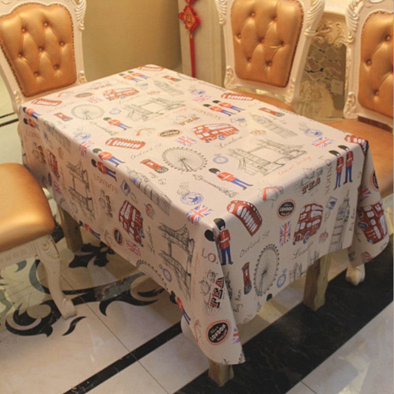 New Hot Kitchen Plastic Table Cover Patterns Print Rectangle Style Round Cafe Tablecloth Wedding Party Mantele Home Table Cloth(China (Mainland))