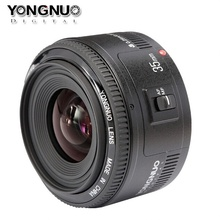 Buy 100% Original Yongnuo 35mm lens YN35mm F2 lens Wide-angle Large Aperture Fixed Auto Focus Lens canon EF Mount EOS Camera for $99.69 in AliExpress store