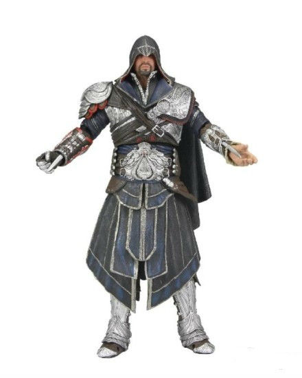 Free shipping,NECA Action figure Assassin's Creed :Brotherhood Ezio PVC 18cm/7 inch Height For xmas gift(China (Mainland))